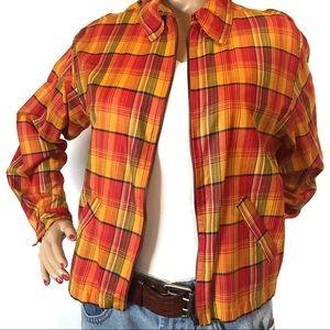 Vintage Plaid Jacket Large